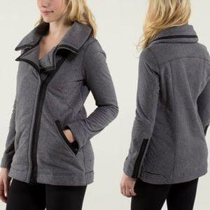 Lululemon Moto Asymmetrical Zip Fleece Jacket 6